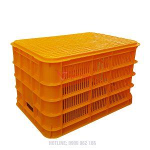 thùng nhựa rỗng hs012 lật úp