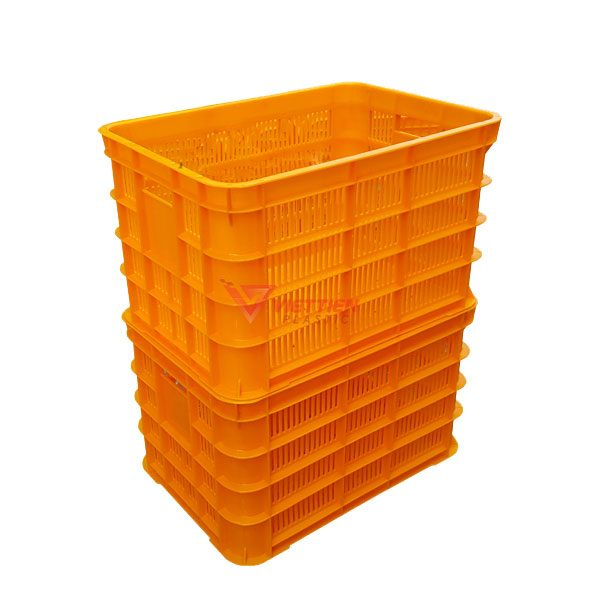 thùng nhựa rỗng hs012 xếp chồng