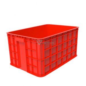 Thùng nhựa đặc HS019 đỏ
