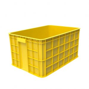 Thùng nhựa đặc HS019 vàng