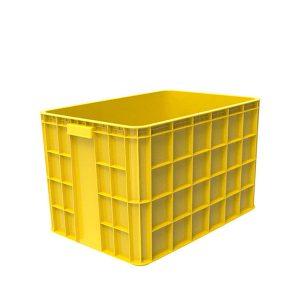 Thùng nhựa đặc HS026 vàng