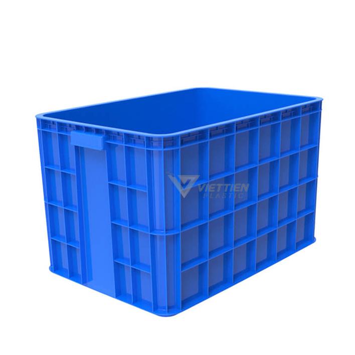 Thùng nhựa đặc HS026 xanh dương