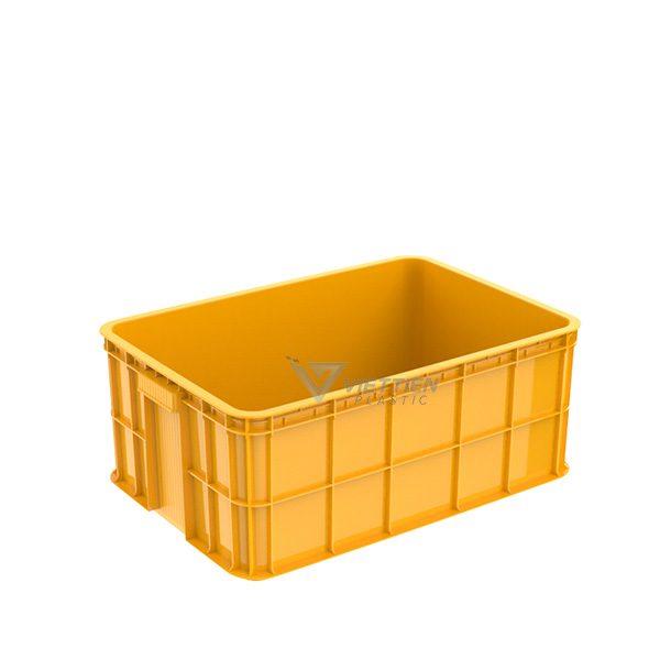Thùng nhựa đặc HS017 vàng