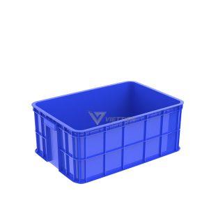 Thùng nhựa đặc HS017 xanh dương