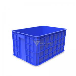 Thùng nhựa đặc HS019 xanh dương