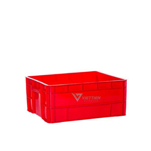 Thùng nhựa đặc KPT02 đỏ
