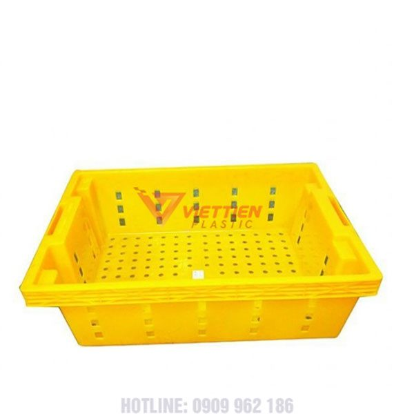 Thùng nhựa rỗng hs022 vàng