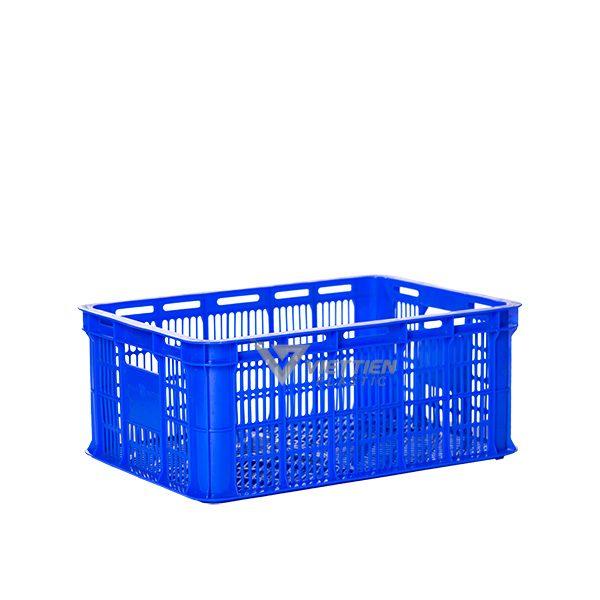 Thùng nhựa rỗng HS018 xanh dương