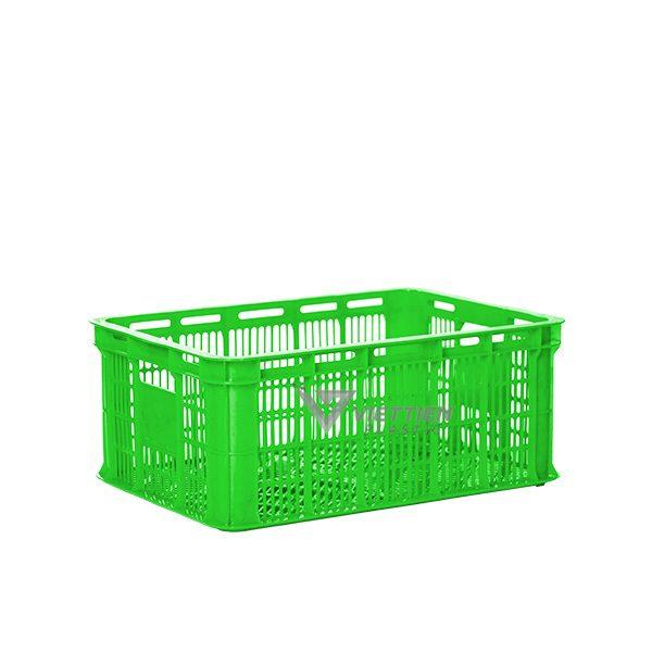 Thùng nhựa rỗng HS018 xanh lá