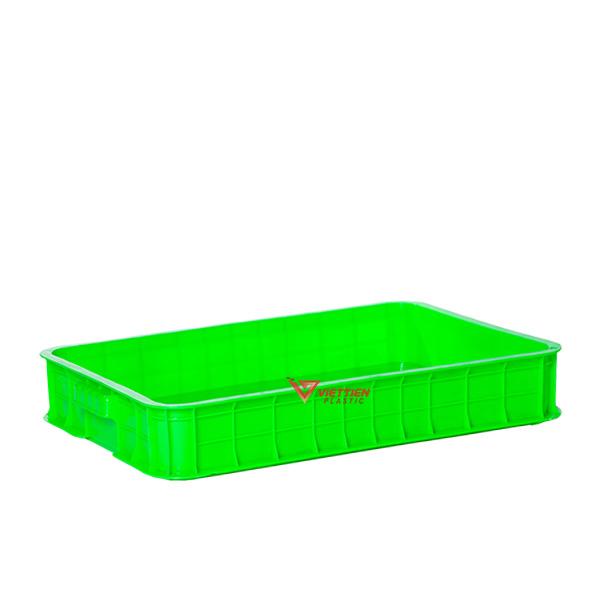 Thùng nhựa đặc HS025 xanh lá