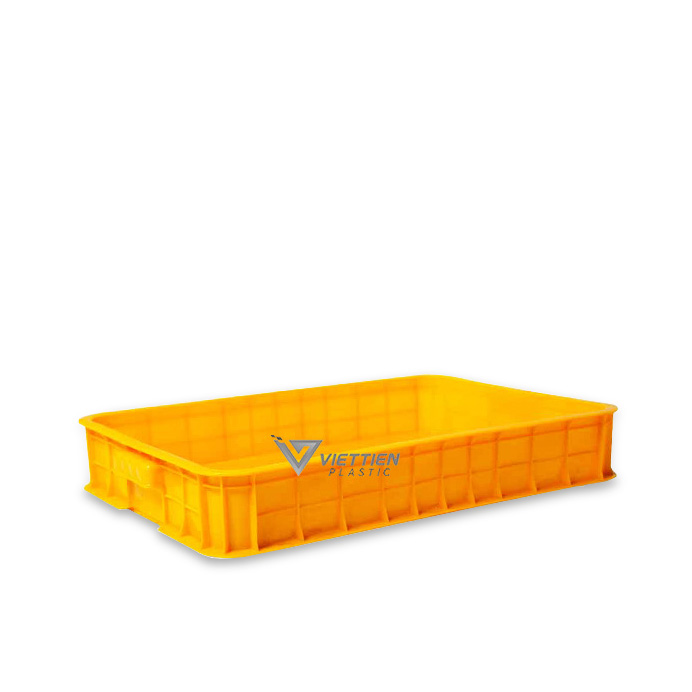 Thùng nhựa đặc HS025 màu vàng