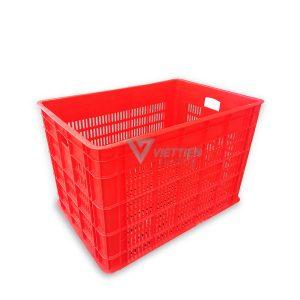 Thùng nhựa rỗng HS027 đỏ