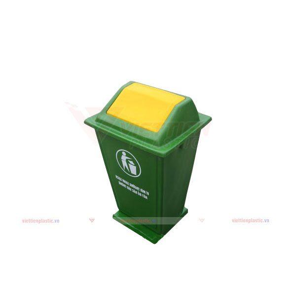 Thùng rác nắp lật 60 lít composite