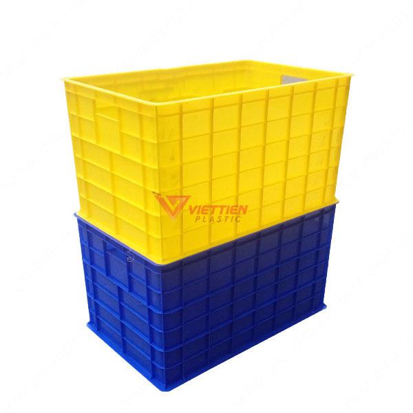 thùng nhựa đặc có bánh xe xếp chồng