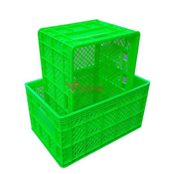 thùng nhựa rỗng hs013 xếp chồng