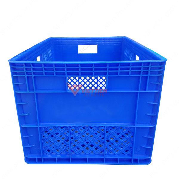 thùng nhựa rỗng hs013 màu xanh