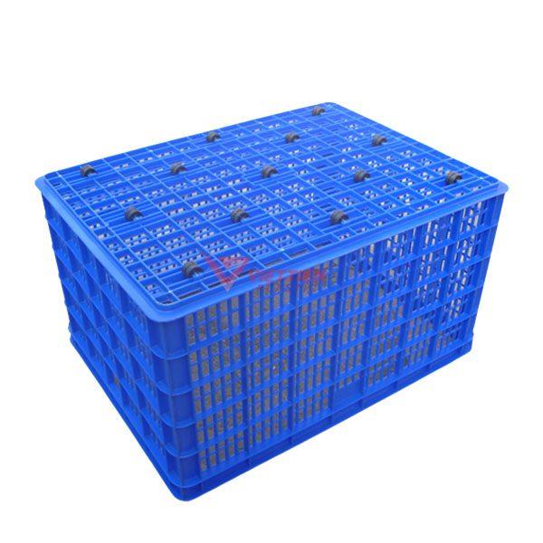 thùng nhựa rỗng hs015 bánh xe