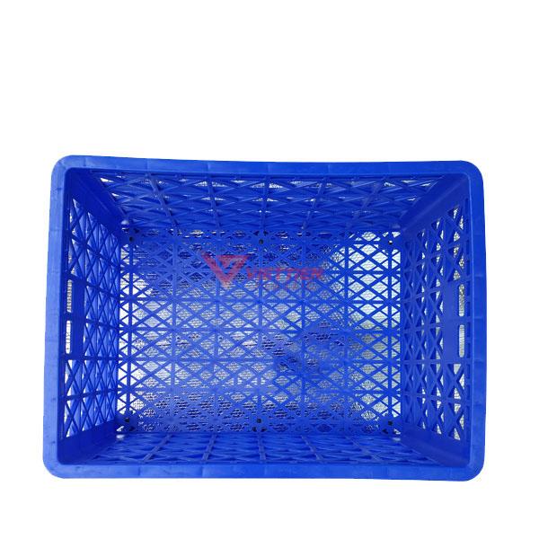 thùng nhựa rỗng hs022 có 8 bánh xe _mặt trong