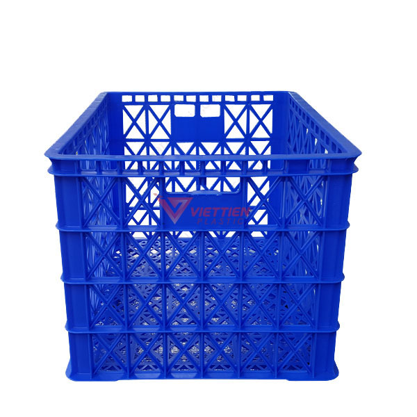thùng nhựa rỗng hs022 có 8 bánh xe _tay cầm