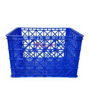 thùng nhựa rỗng hs022 có 8 bánh xe_mặt bên
