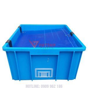 thùng nhựa đặc b10 tay cầm