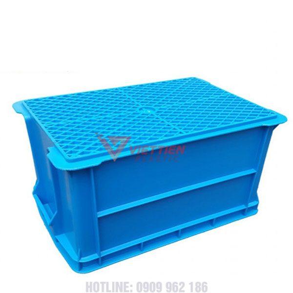 thùng nhựa đặc b6 đáy