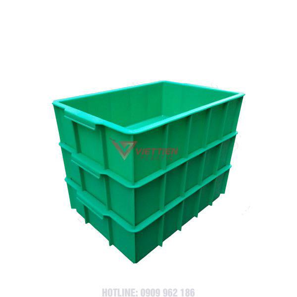 Thùng nhựa đặc ym003 xếp chồng