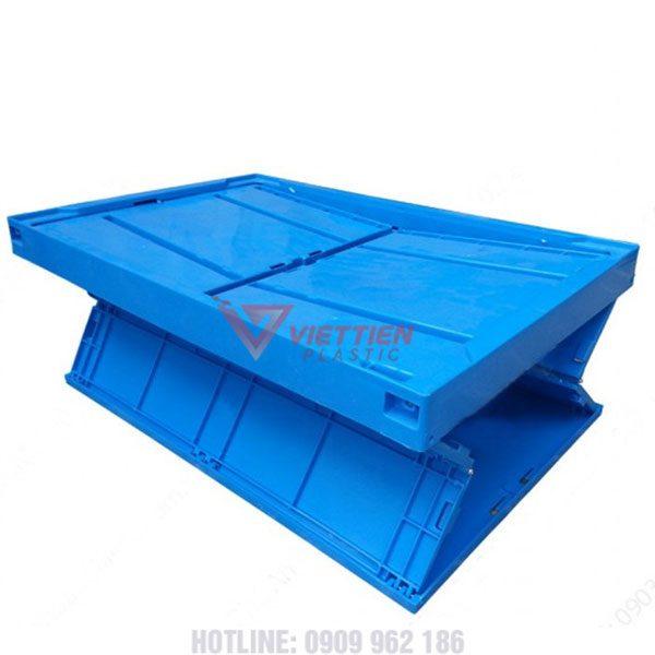 Thùng nhựa gập G1 xếp chéo
