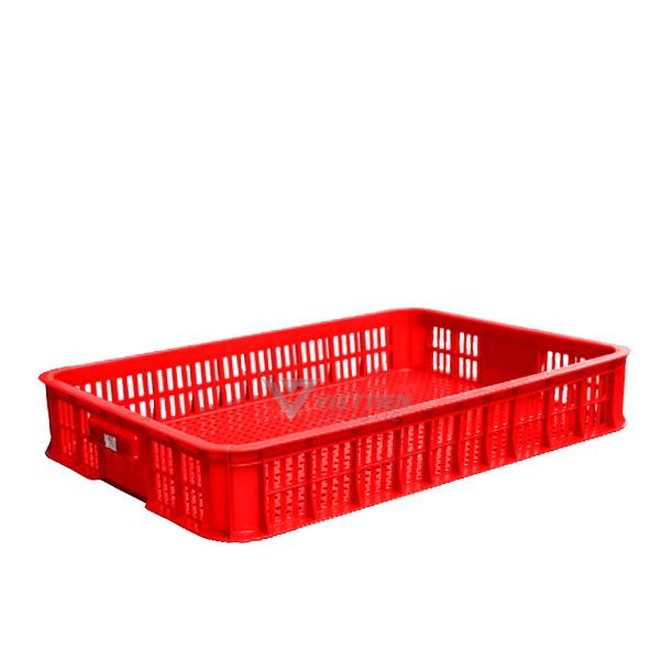 Sóng nhựa hở HS010 - màu đỏ