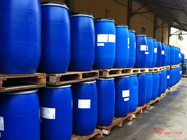 Kho phi nhựa 220 lít đai sắt của Nhựa Việt Tiến