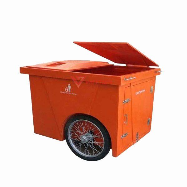 Thùng rác composite 1000 lít - bánh hơi