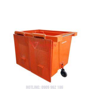 thùng rác composite 1000 lít nắp mở