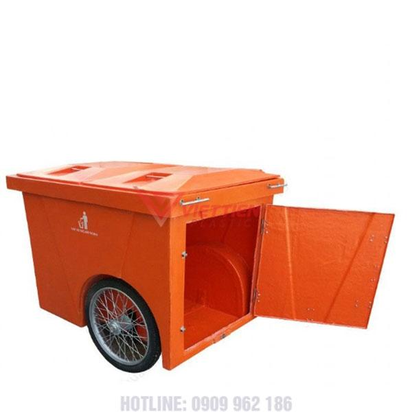 Thùng rác nhựa 1000 lít nắp mở lấy rác