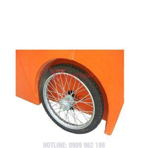 Thùng rác nhựa 1000 lít cửa mở lấy rác