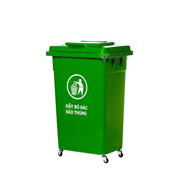 Thùng rác nhựa 90 lít nắp kín