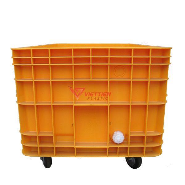 Thùng Nhựa Đặc VJB600 Có Bánh Xe 4