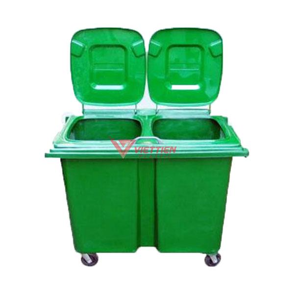 Thùng rác nhựa đôi 660 lít