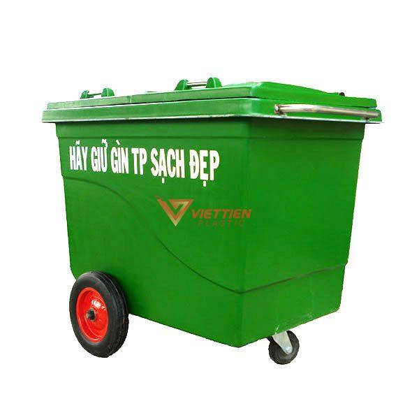 thùng rác composite 660 lít giá rẻ