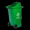 thùng rác nắp hở 240 lít màu xanh