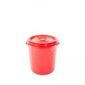 thùng tròn 25 lít đỏ