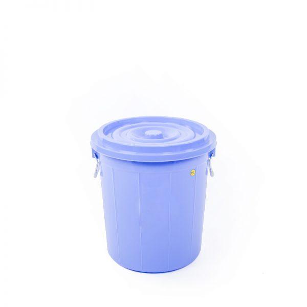 thùng tròn 35l xanh dương