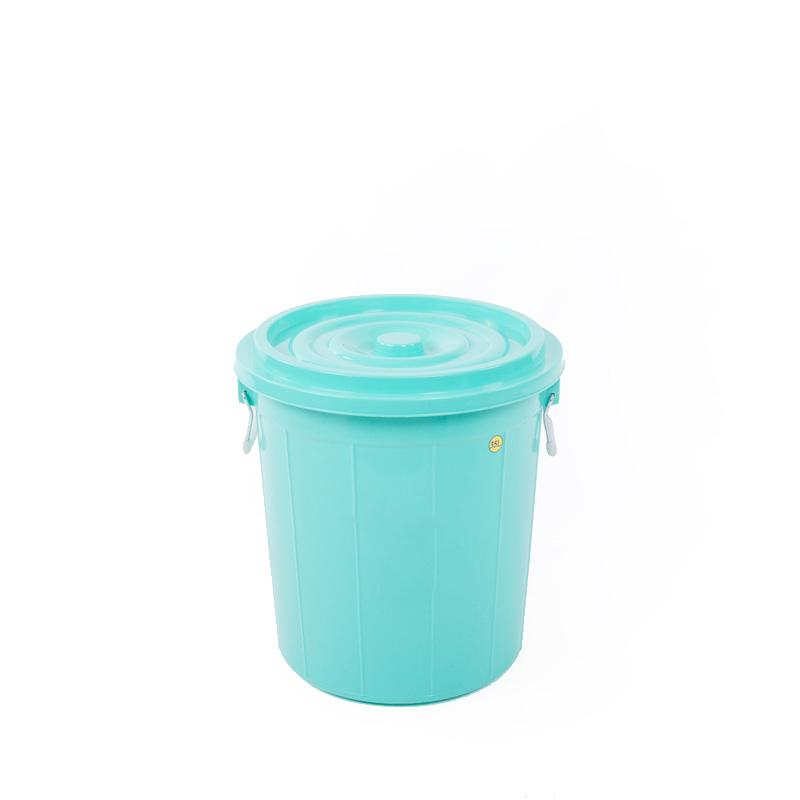 thùng tròn 35l xanh lá