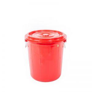 thùng tròn 45l màu đỏ