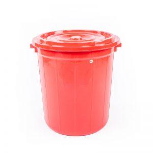 thùng tròn 90l đỏ