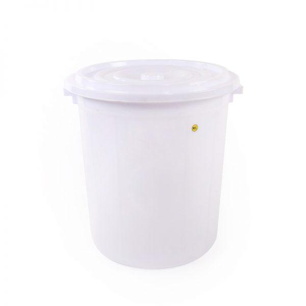 thùng tròn 90l trắng