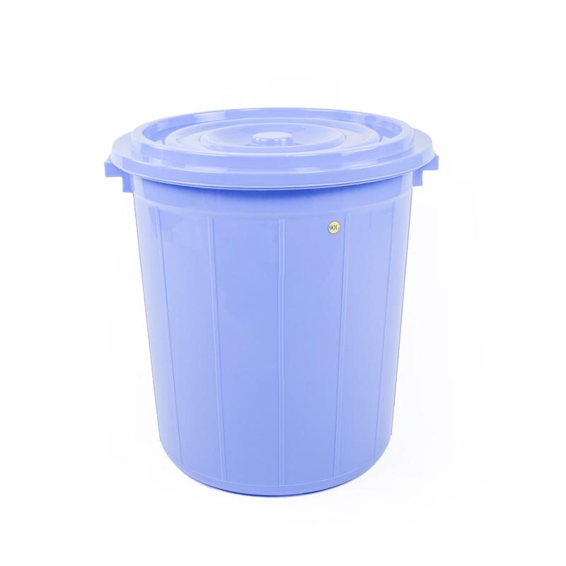 thùng tròn 90l xanh dương