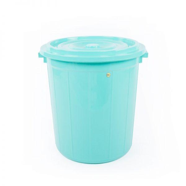 thùng tròn 90l xanh lá
