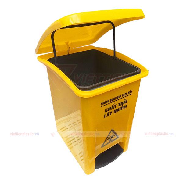 Thùng rác 20 lít màu vàng