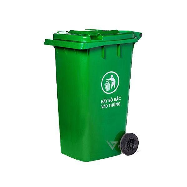 Thùng rác 240 lít xanh lá