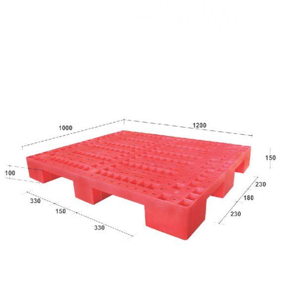 Pallet nhựa PL01LS màu đỏ